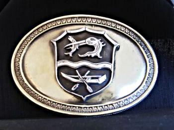 Gürtelschließe mit Rottacher Wappen